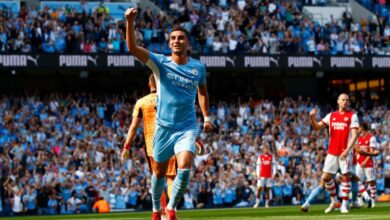 Annihilated: Man City pumps five goals past limping Arsenal