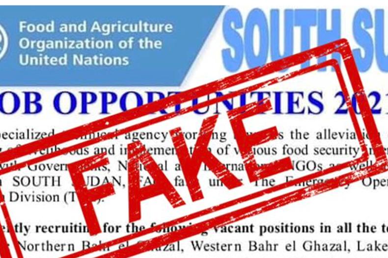 FAO disowns job advert bearing its logo